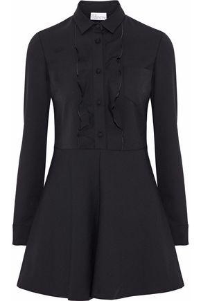 REDValentino Ruffle-trimmed poplin mini shirt dress