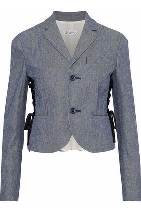 REDValentino Lace-up denim blazer