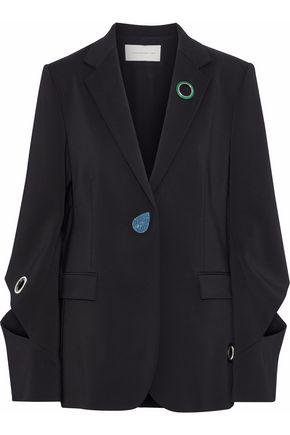 CHRISTOPHER KANE Embellished cutout crepe blazer