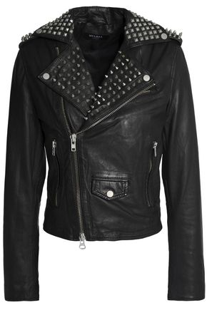 MUUBAA Studded leather jacket