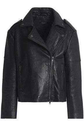 MUUBAA Textured-leather biker jacket