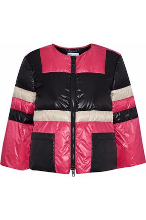 REDValentino Cropped quilted color-block shell jacket