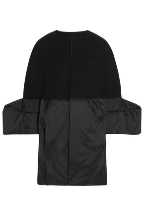 RICK OWENS LILIES Wool-blend gabardine and shell coat