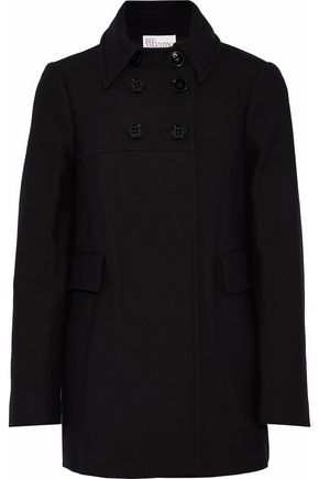 REDValentino Double-breasted cotton-blend twill coat