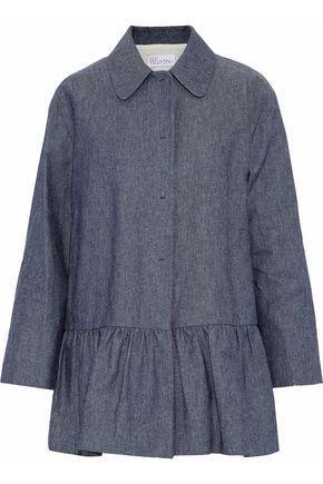 REDValentino Fluted cotton-chambray jacket
