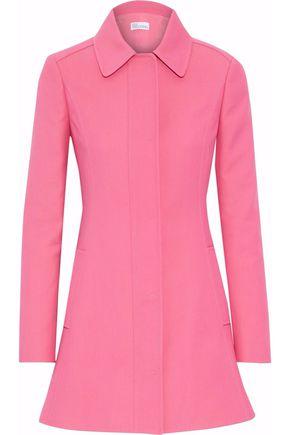 REDValentino Shirred cotton-blend twill coat