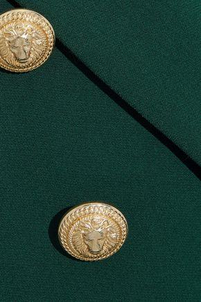 BALMAIN Double-breasted button-detailed cady blazer