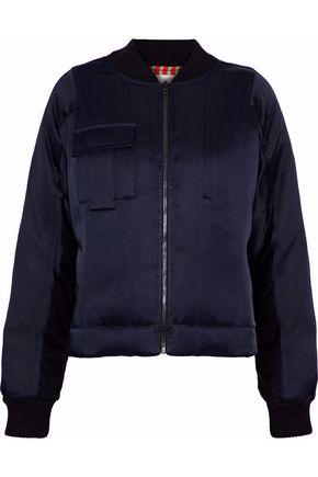 DIANE VON FURSTENBERG Satin down bomber jacket
