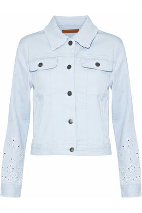 REBECCA MINKOFF Verona broderie anglaise denim jacket