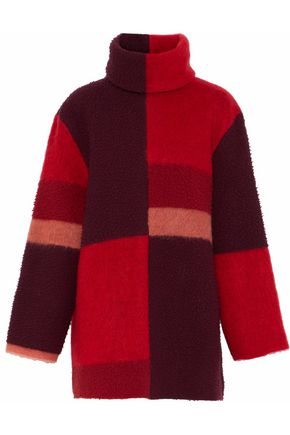 ROKSANDA Color-block wool-blend turtleneck sweater
