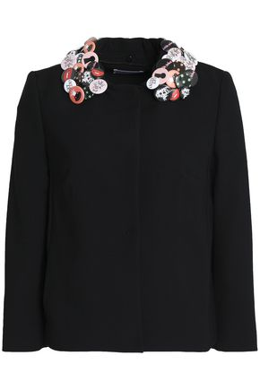 REDValentino Embellished woven jacket