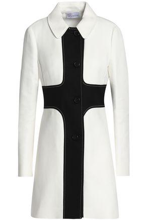 REDValentino Two-tone cotton-twill coat
