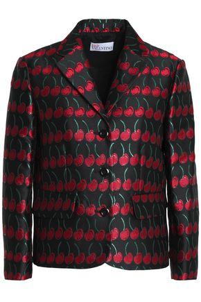 REDValentino Metallic jacqaurd blazer