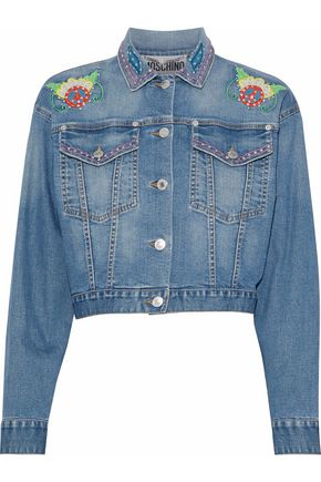 MOSCHINO Embellished denim jacket
