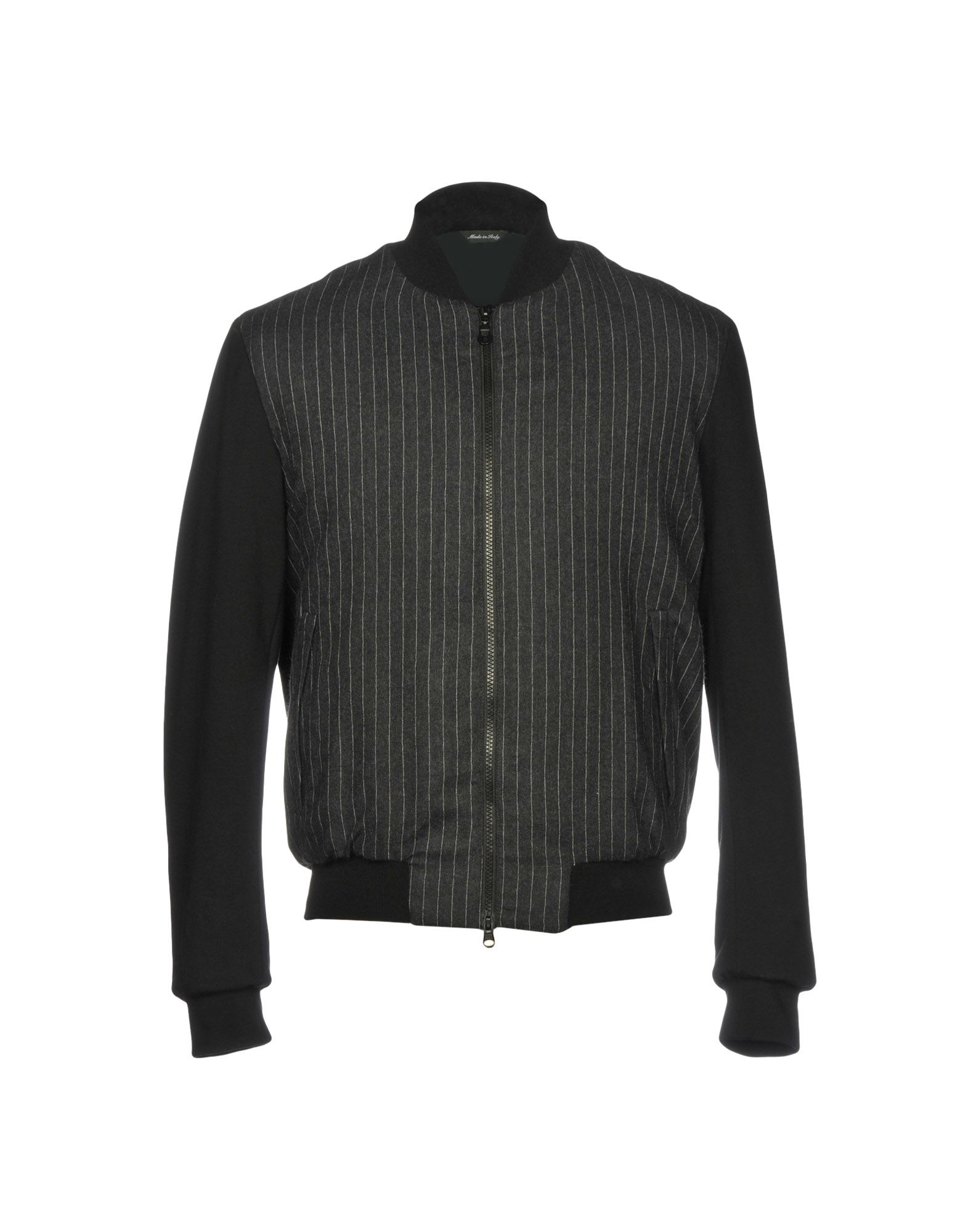 YOON Куртка куртка бомбер короткая в полоску с вышивкой 100