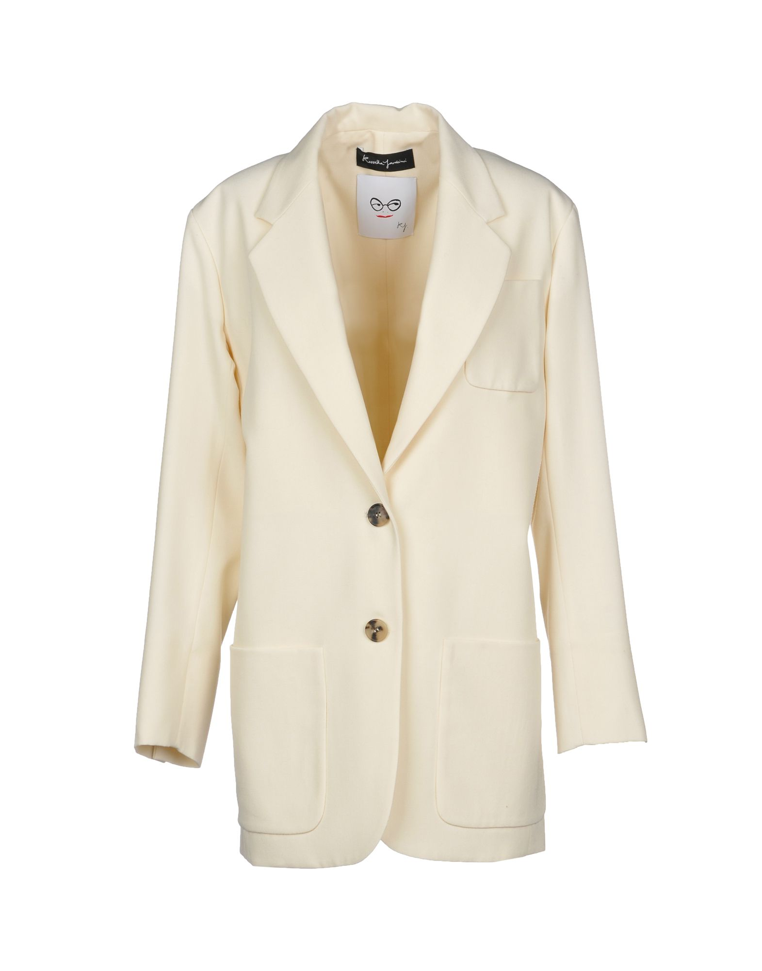 ROSSELLA JARDINI Full-Length Jacket in Ivory