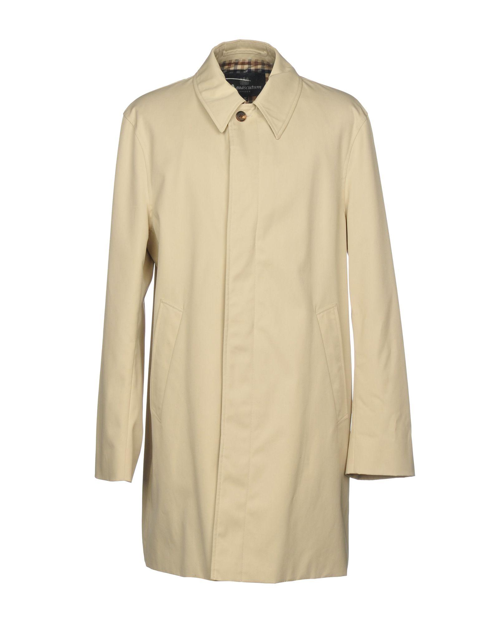 AQUASCUTUM Full-Length Jacket in Ivory