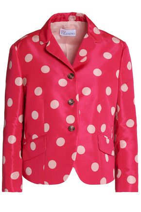 REDValentino Polka-dot satin-faille jacket