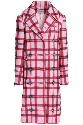 MARY KATRANTZOU Embellished printed wool-blend coat