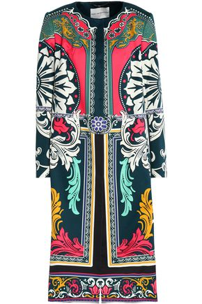 MARY KATRANTZOU Printed cotton and silk-blend jacket