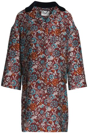 MARY KATRANTZOU Metallic brocade coat