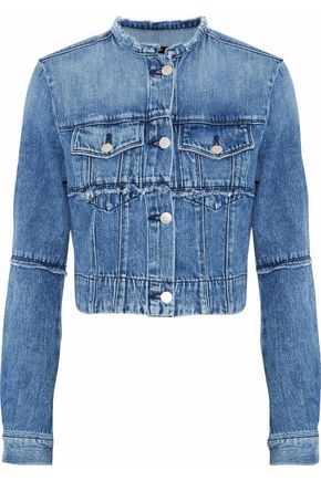 J BRAND Satellite cropped frayed denim jacket