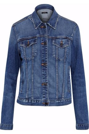 J BRAND Revoke distressed denim jacket