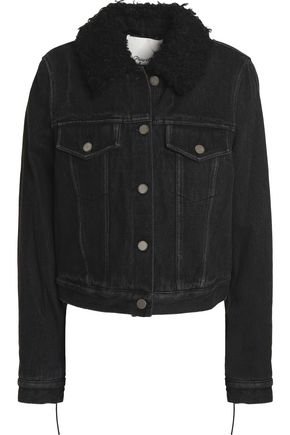 3.1 PHILLIP LIM Faux fur-trimmed denim jacket