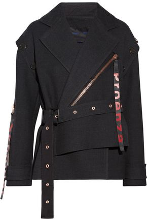 PROENZA SCHOULER Asymmetric belted wool and silk-blend coat