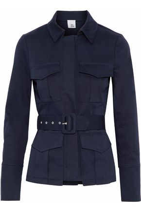 IRIS & INK Sade belted cotton-blend gabardine jacket