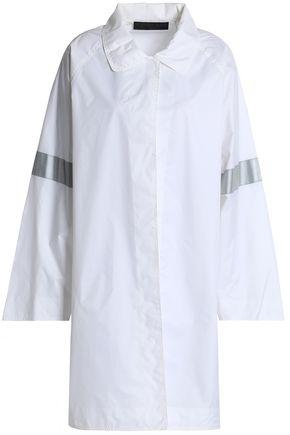 NORMA KAMALI Lamé-trimmed shell coat