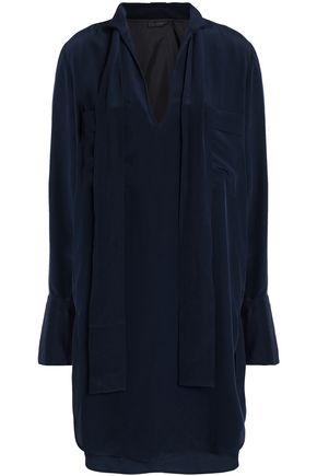 BELSTAFF Silk crepe de chine mini shirtdress