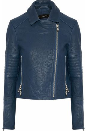J BRAND Aiah textured-leather biker jacket