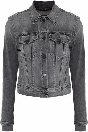 J BRAND Harlow cropped faded denim jacket