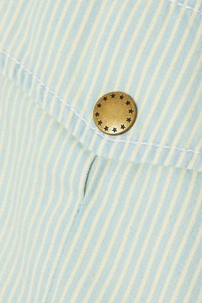 THE GREAT. Striped cotton-twill shirt