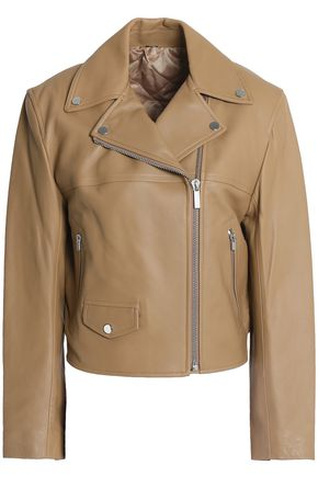 HELMUT LANG Tie-back leather biker jacket