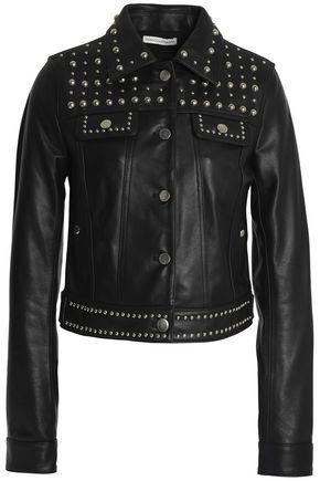 REBECCA MINKOFF Studded leather biker jacket