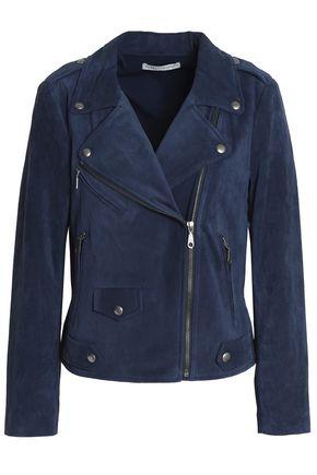 REBECCA MINKOFF Suede biker jacket