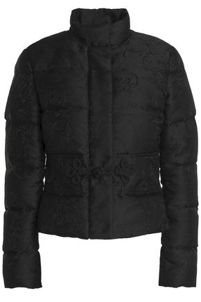 ROBERTO CAVALLI Quilted jacquard down jacket