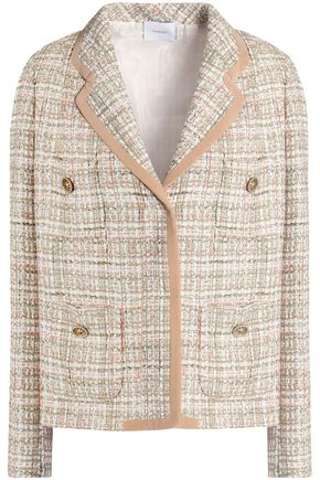 AGNONA Wool-blend tweed blazer