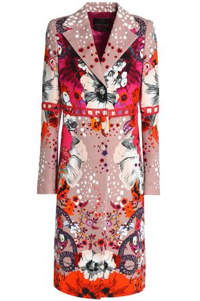 ROBERTO CAVALLI Printed cotton-blend jacquard coat