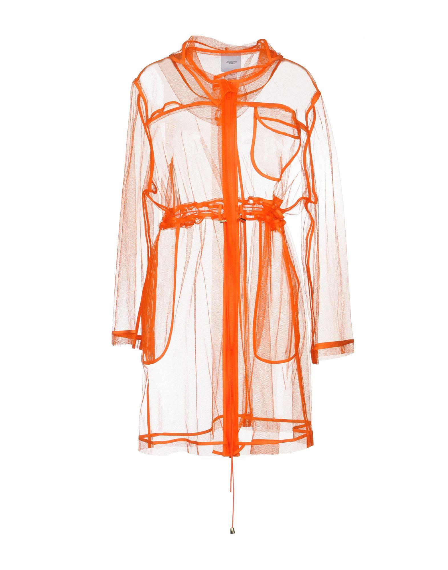 《送料無料》LONGSHAW WARD レディース ライトコート オレンジ 8 ポリエステル 100%