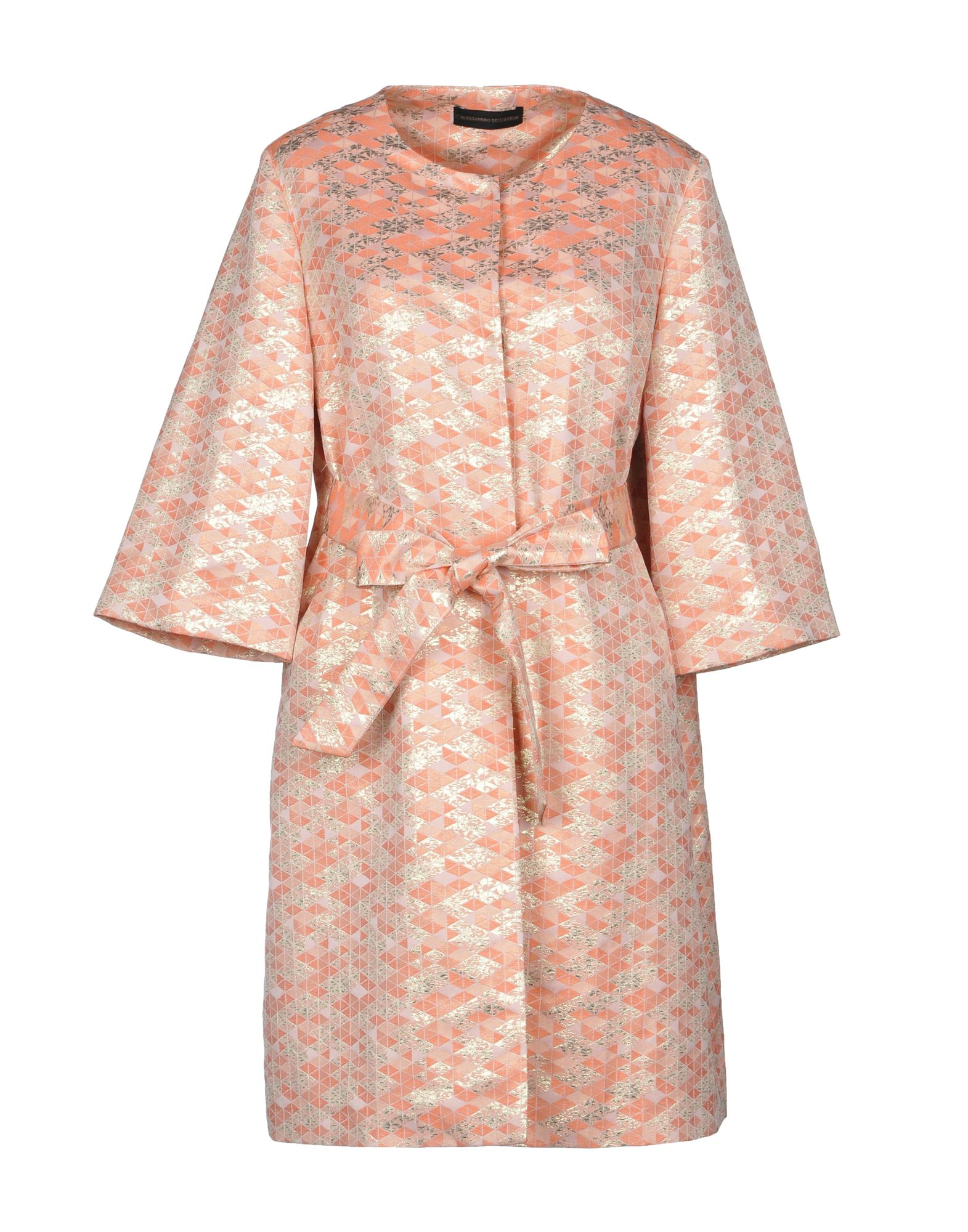 ALESSANDRO DELL'ACQUA Full-Length Jacket in Pale Pink