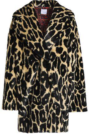 STELLA JEAN Leopard-print faux fur coat
