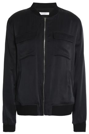 EQUIPMENT Washed-silk bomber jacket