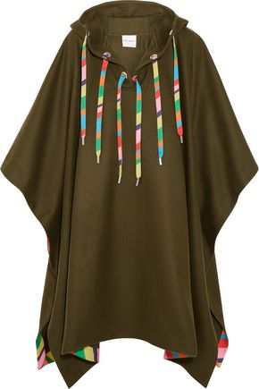 MIRA MIKATI Embellished wool-blend hooded cape