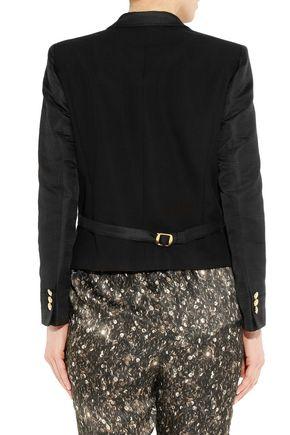 GUCCI Faille-paneled silk-ottoman jacket