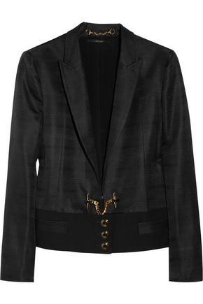 GUCCI Faille-paneled silk-ottoman jacket