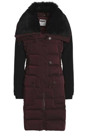 ASHLEY B. Shearling-trimmed twill down jacket