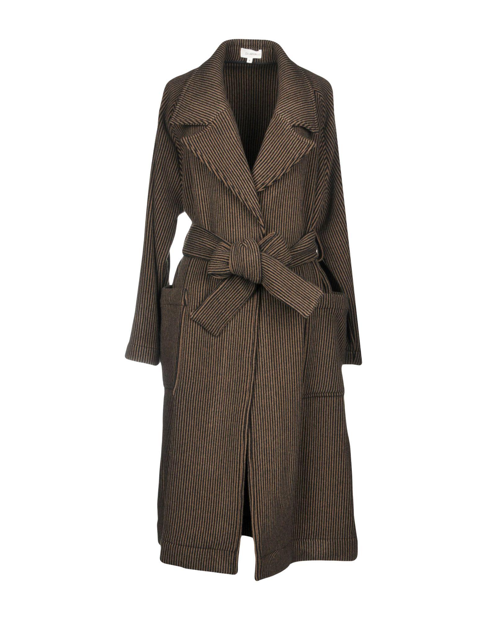 ISA ARFEN Пальто 2016 осенью дамы сукно slim шерстяные пальто в длинные пальто